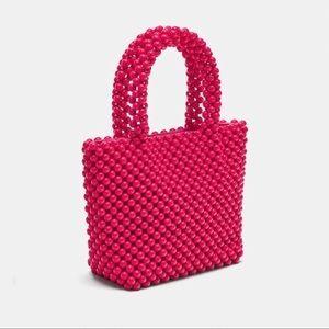 Zara Mini Pink Beaded Bag